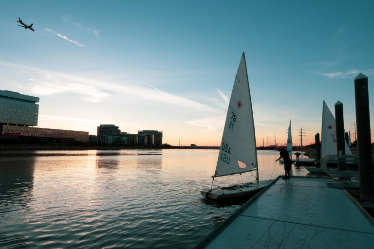 TownLake_Skyline_GoldenHour_Boats_Dock